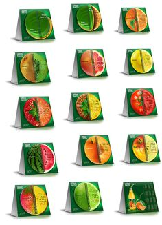 Дизайн настольного календаря ТМ «Биола». 2012 год