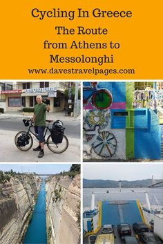 Bicycle Touring In Greece – Cycling From Athens to Messolonghi. Useful route maps and videos to help you plan a bicycle tour in Greece.
