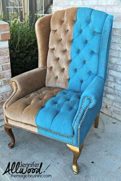 How to Paint Crushed Velvet Furniture | Check out this furniture painting tutorial to learn how you can paint velvet.