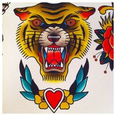Tiger Tattoo Flash | KYSA #ink #design #tattoo
