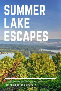 We've handpicked 15 lake vacations your budget will love (featuring s'mores around the fire pit, mountain views off the back porch, and hiking in every direction). Here's where to find the perfect lake house rental. Weekend Vacations, Best Vacations, Vacation Trips, Vacation Spots, Lake Vacations, Vacation Ideas, Lake House Rentals, Vacation Home Rentals, Vacation Destinations