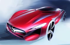 Learn how to draw a car using our step by step tutorials. Mercedes World, Plan Sketch, Industrial Design Sketch, Design Basics, Car Design Sketch, Car Drawings, Machine Design, Love Car, Photoshop Design