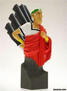 Julius Caesar knife case - Imgur // The Caesar from Asterix and Obelix