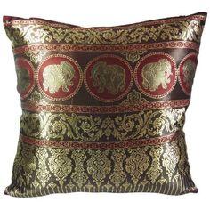 kilofly Home Decorative Throw Pillow Cover, 18 x 18, Thai Elephant Red, with kilofly Refrigerator Magnet by kilofly, http://www.amazon.com/dp/B00CW8T7SO/ref=cm_sw_r_pi_dp_8noksb0YVRNKZ