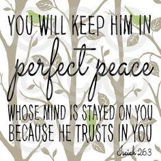 Perfect peace Isaiah 26:3 Digital Scripture Art by BridgeOfWords on Etsy