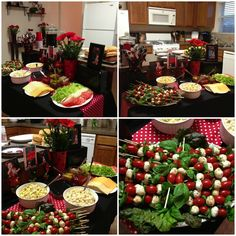 Ladybug Birthday food table