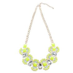 Sulphur Yellow Bauble Necklace