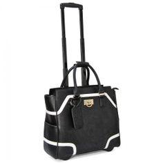 "Cabrelli 16.5"" Women's Rolling Laptop Bag - Color Block Rollerbrief"
