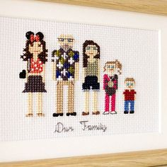 Close up of a portrait of a wonderful family! This is another future Mother's Day gift. The daughter has already received it and loved it. So we are waiting for May,8 hoping that her mother will love it too!☺️
