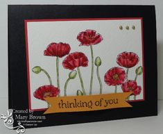 CAS212 Not So Simple Poppies by stampercamper - Cards and Paper Crafts at Splitcoaststampers