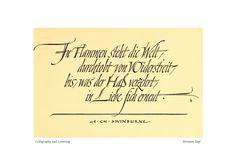 hermann zapf calligraphy | Calligraphy and Lettering, »Hermann Zapf« II