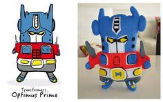 Mostrete transformer, TransformersPrime, OptimusPrime hecho a mano en ecofieltro, producto ecológico. https://www.facebook.com/mostretes www.mostretes.com