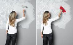 Wandgestaltung in Beton-Optik - SCHÖNER WOHNEN-Farbe | Schöner Wohnen