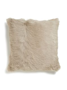 Italian Shearling Throw Pillow by stone
