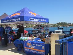 Our 'office' set-up at the Orange County Triathlon and Duathlon in June 2014. Beautiful venue, great racing!