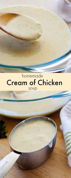 Homemade Condensed Cream of Chicken Soup Recipe great for cooking.