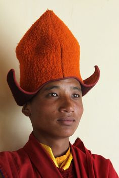 India - Zanskar / Monk of the Thongde monastery.