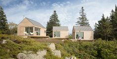 Little House on the Ferry is seasonal guesthouse comprised of three micro cabins connected by a web of outdoor decks on Vinalhaven, an island off the coast of Maine in Penobscot Bay. The design is...