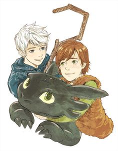 If Jack and Hiccup were friends. Even though I think that the first thing they would do is kill each-other.