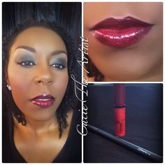 I'm so in love with #Rihanna #VivaGlam #lipglass by #MAC I also used MAC #lipliner in #currant.                                            #mua #757 #professional #stylist #makeup #instructor #beatface #motd