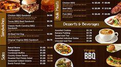 Digital Bar and grill menu board templates