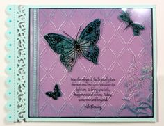 Here is another of my show samples featuring the lovely butterfly stamps and stencils from Chocolate Baroque. Anne Waller #chocolatebaroque #stamping #cardmaking