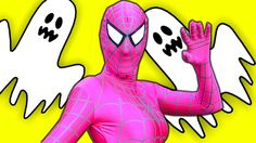 Is Pink Spidergirl a Ghost? w/ Spiderman,w/ Spiderman & Frozen Elsa the ...