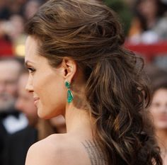 Angelina Jolie | half up and tousled. Top 10 Red Carpet Hairstyles – 2013