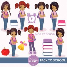 70% OFF SALE Back to school clipart school by PremiumClipart