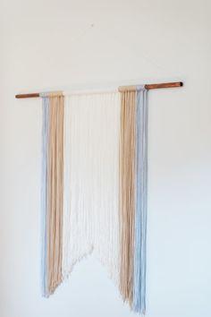 modern jane: DIY Yarn Wall Hanging                                                                                                                                                     More