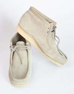 "Clarks Originals suede ""Wallabee"" boots, introduced in 1965, $120, Clarks"