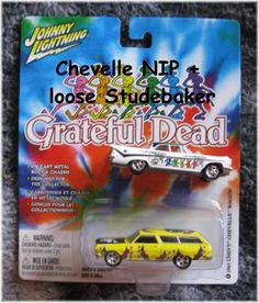 "Johhny Lightning ""Grateful Dead"" Chevelle + Studebaker  $18.00 via HearseDrivingFemale"