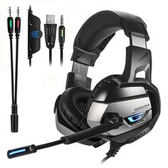 ONIKUMA Stereo Gaming Headset for PS4 ,PC,Xbox One Controller,Noise Cancelling Bass Over Ear Headphones with Mic,Bass Surround, Volume Control for Laptop,PC,iPad,Smartphones Nintendo Switch Games #ONIKUMA #Stereo #Gaming #Headset #,PC,Xbox #Controller,Noise #Cancelling #Bass #Over #Headphones #with #Mic,Bass #Surround, #Volume #Control #Laptop,PC,iPad,Smartphones #Nintendo #Switch #Games