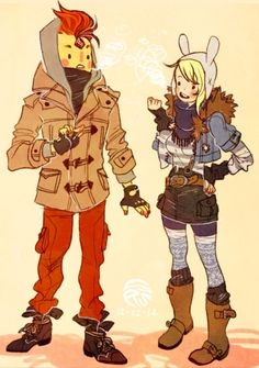 Fionna and Flame Prince style