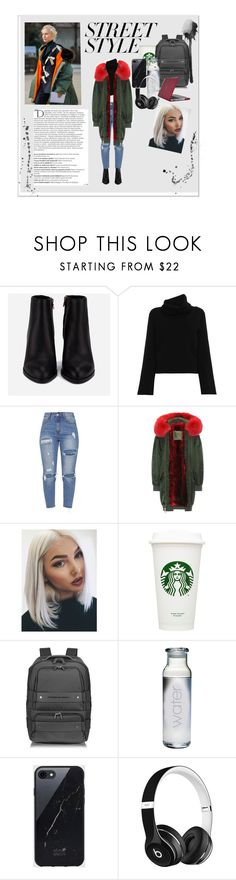 """""""Street Style"""" by qveenblen ❤ liked on Polyvore featuring Alexander Wang, Chloé, Mr & Mrs Italy, Porsche Design, Susquehanna Glass, Sefton, Beats by Dr. Dre, Speck, Balmain and contestentry"""
