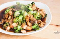 Salteado teriyaki de brócoli con cardo coreano - Sabrosía