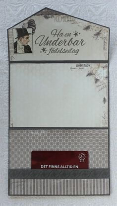 Kuvertkort med tutorial | Kristinas Scrapbooking Blogg Junk Journal, Journal Ideas, Vintage Cards, Card Wallet, Cardmaking, Rhinestones, Handmade, Gifts, Scrapbooking