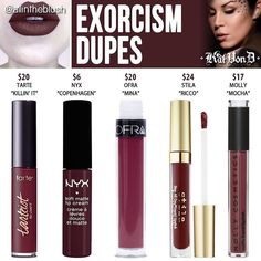 Lipstick dupes 448178600413304584 - Happy Tuesday, my loves! I have another Kat Von D Everlasting Liquid Lipstick dupe to share with you today! The next dupe up on the… Source by Dogs_and_Coffee Jeffree Star Gemini, Lipstick Art, Lipstick Dupes, Lipsticks, Nyx Dupes, Eyeshadow Dupes, Nyx Cosmetics, Blush Dupes, Lipstick Shades