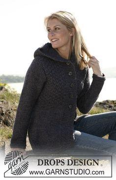 "Knitted DROPS jacket in ""Eskimo"". Size S-XXXL. ~ DROPS Design.  Free knitting pattern"