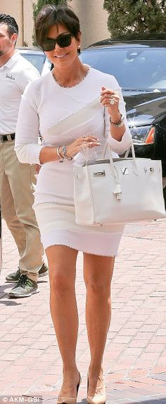 Like daughter, like mother: Kris Jenner took a leaf out of Kim's Kardashian book and dressed entirely in white
