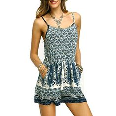 Fanessy Sommer Overall Damen sexy elegant Jumpsuit kurz Kleider Sommerkleid blusenkleid Strandkleid Rock