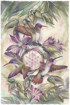 Bergsma Gallery Press::Paintings::Nature::Birds::Hummingbirds::Grace Expectations - Prints