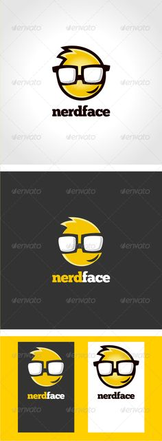 NerdFace	 Logo Design Template Vector #logotype Download it here: http://graphicriver.net/item/nerdface-logo-template/3318876?s_rank=533?ref=nexion