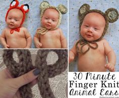 Finger Knit Animal Ears In 30 Short Minutes | The WHOot