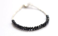 Image of Black Spinel Tennis Bracelet by Vivien Frank Designs