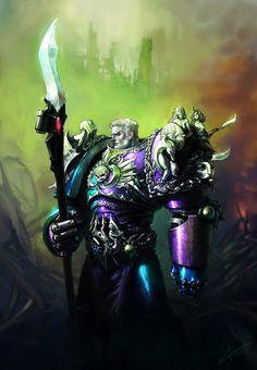 digital-art-archive: Artist Spotlight: 1 saint-max Ibrahem Swaid, known on… High Fantasy, Fantasy Art, St Max, Warhammer 40k Art, Warhammer Models, Warhammer Fantasy, Art Archive, The Grim, Space Marine