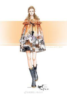 时装绘画 服装设计 插画师微博@咸蛋超人-南xdcrn