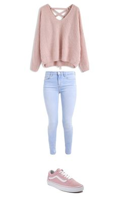 """Untitled #377"" by skylar126 on Polyvore featuring Chicwish and Vans"