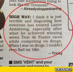 Lance Armstrong Was Treated Unfairly