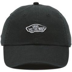 Vans Court Side Baseball Cap ($28) ❤ liked on Polyvore featuring accessories, hats, black, baseball hats, cotton logo hat, ball cap hats, baseball caps and logo hats